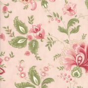 Moda - Porcelain - 3 Sisters - 6325 - Traditional Floral on Pale Pink - 44190 15 - Cotton Fabric